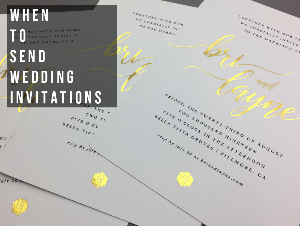 When To Send Wedding Invitations.When To Send Wedding Invitations