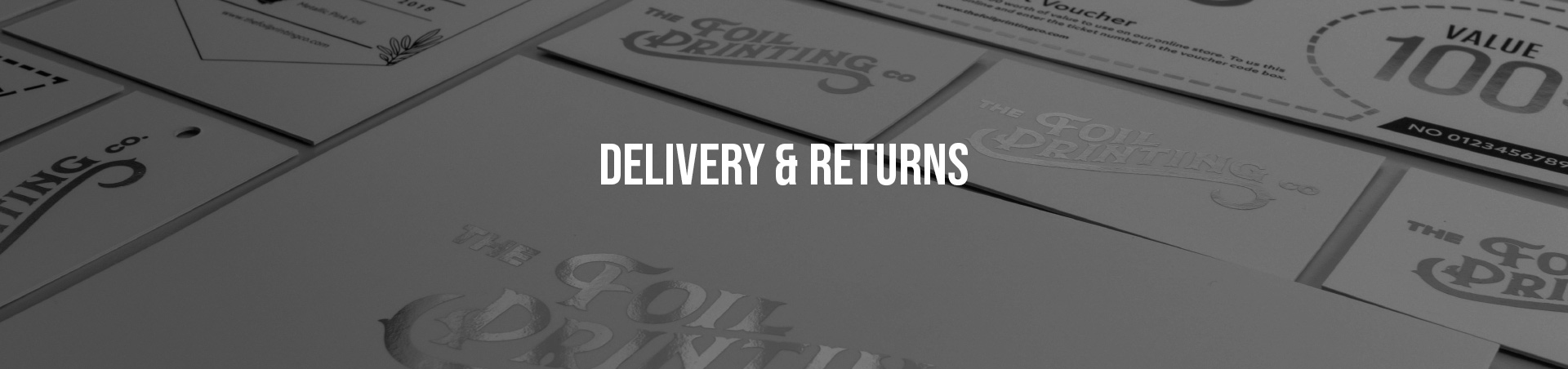 Delivery & Returns Banner