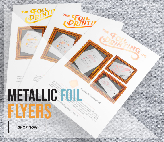 Metallic Foil Flyer Printing